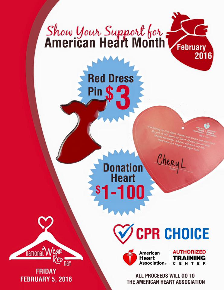 Wear Red - American Heart Month is February
